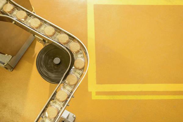 Overhead View Of Freshly Made Biscuits Art Print by Monty Rakusen