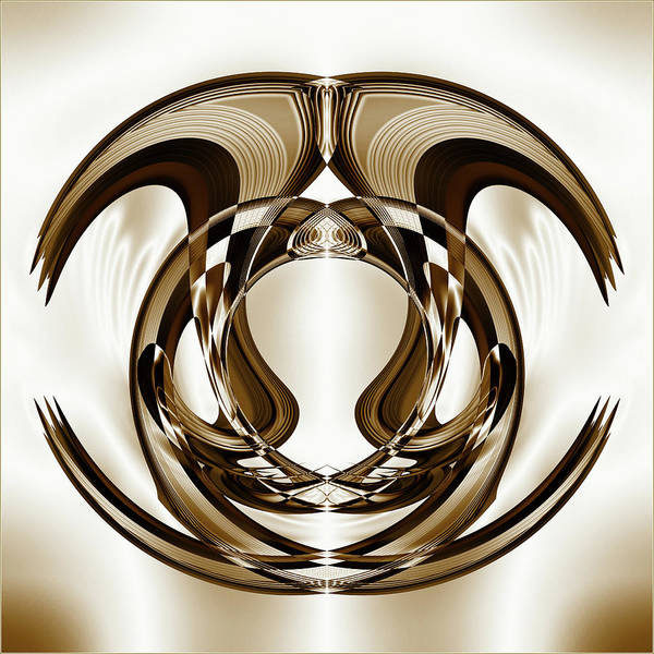 Symmetrical Digital Art - Overlapping Curved Shapes Creative by Raj Kamal