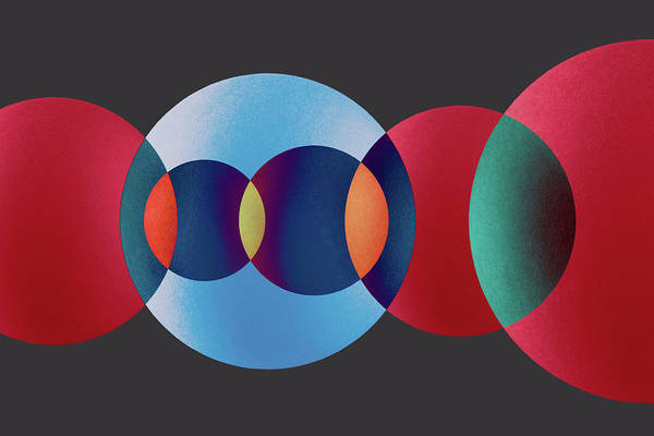 Art Object Photograph - Overlapping Multi-colored Circles by Miragec