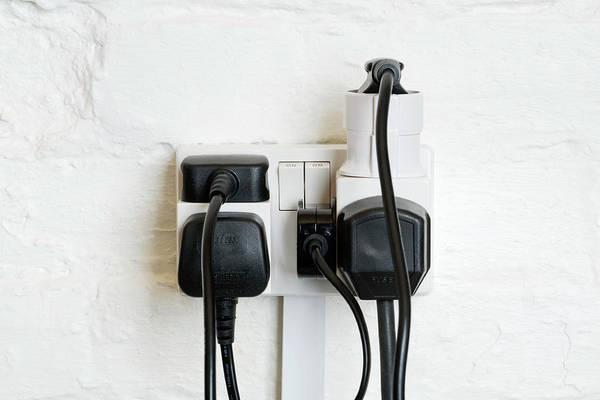Plug-in Photograph - Overloaded Electrical Power Socket by Emmeline Watkins/science Photo Library
