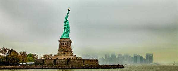 Statue Wall Art - Photograph - Overlooking Liberty by Az Jackson