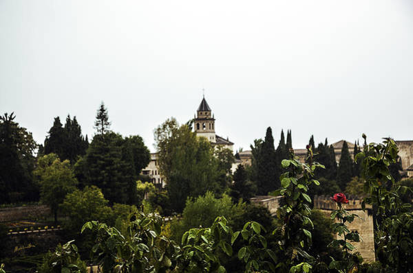 Wall Art - Photograph - Overlooking The Alhambra On A Rainy Day - Granada - Spain by Madeline Ellis
