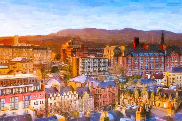 Photograph - Overlooking The Grassmarket In Beautiful Edinburgh by Mark Tisdale