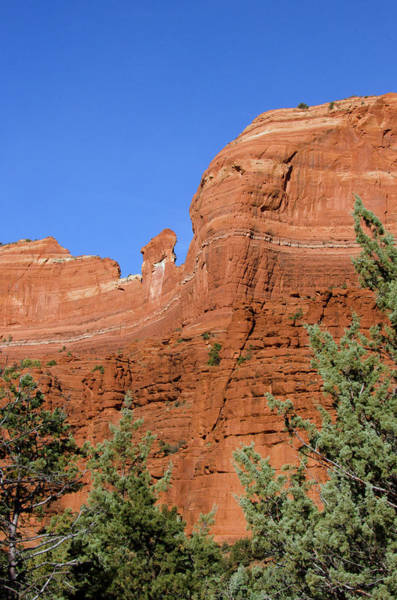 Stoney Photograph - Overpowering Red Rock Wall by Jan and Stoney Edwards