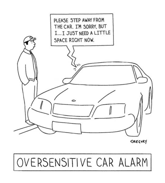 January 31st Drawing - 'oversensitive Car Alarm' by Alex Gregory