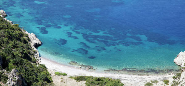 Dodecanese Photograph - Overview Of Deserted Bay Beach by Christer Fredriksson