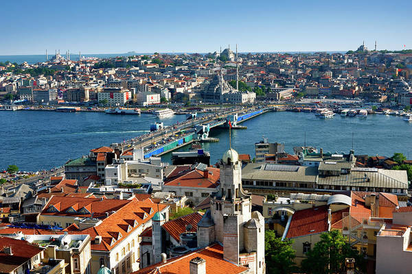 Galata Photograph - Overview Of Istanbul Skyline From by Jean-pierre Lescourret