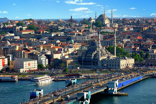 Galata Photograph - Overview Of Istanbul Skyline by Jean-pierre Lescourret
