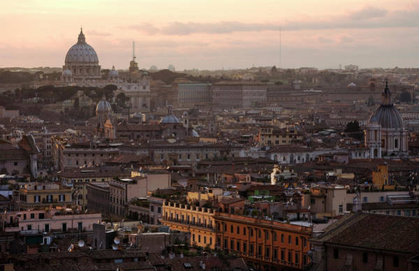 Wall Art - Photograph - Overview Of Rome With The Dome Of St by Chico Sanchez