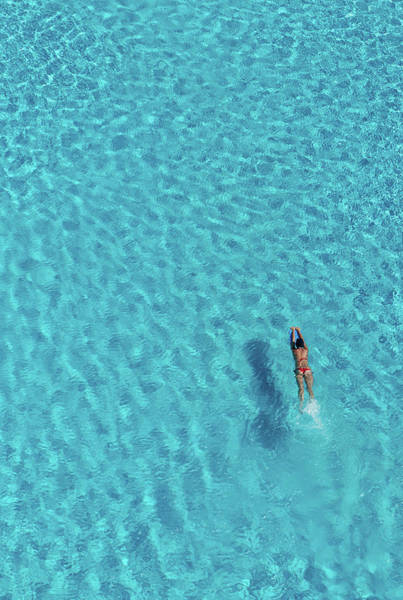 Real People Photograph - Overview Of Woman In Swimming Pool by Dallas Stribley