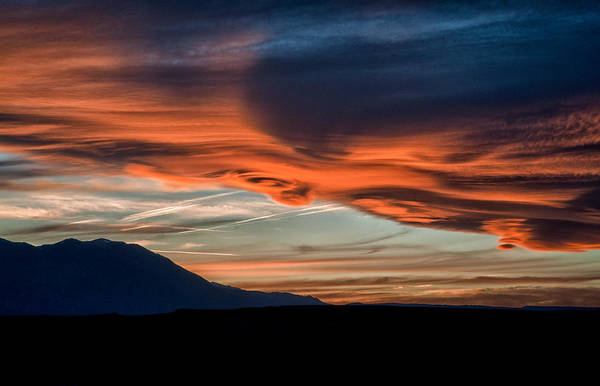 Orange Cat Photograph - Owens Valley Sunset by Cat Connor