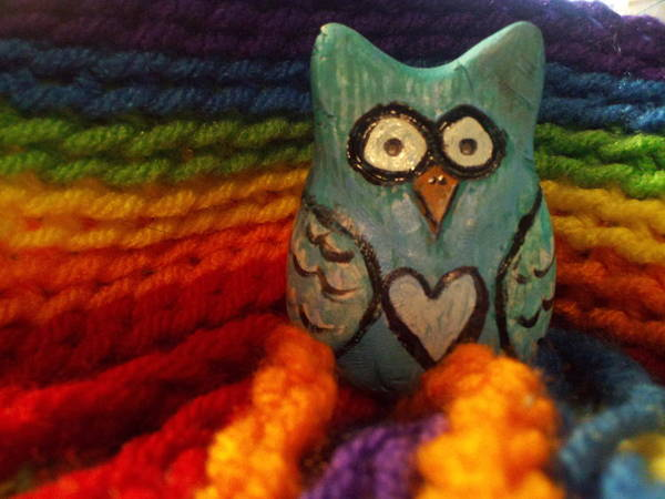 Knitting Digital Art - Owl B. Darned by Melissa Osborne