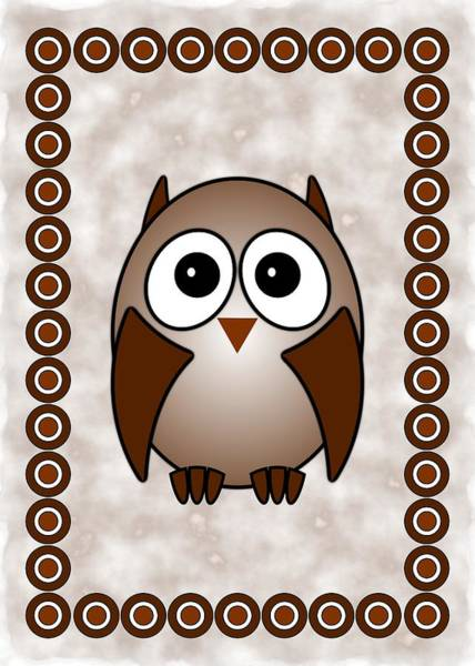 Digital Art - Owl - Birds - Art For Kids by Anastasiya Malakhova