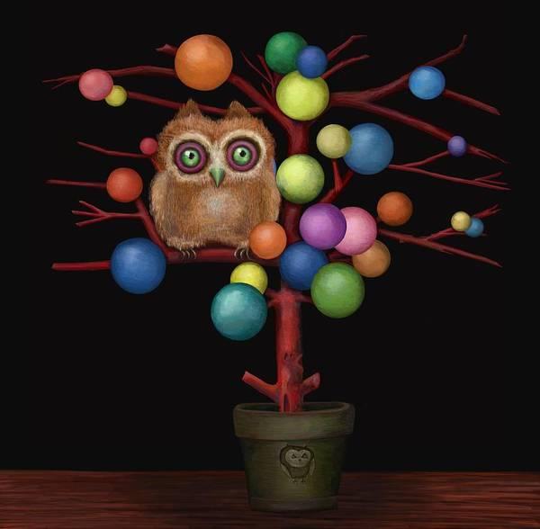 Bauble Digital Art - Owl by Catherine Swenson