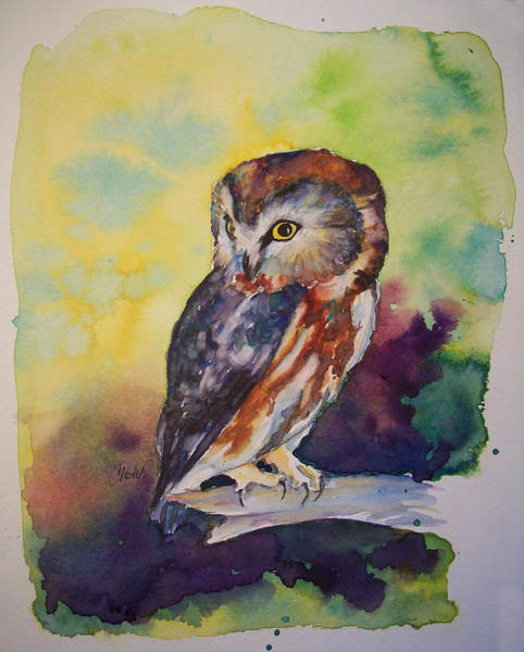 Painting - Owl by Christy Freeman Stark