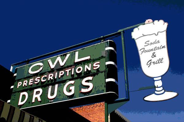 Owl Drugs  Art Print
