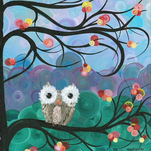 Painting - Owl Expressions - 03 by MiMi  Stirn