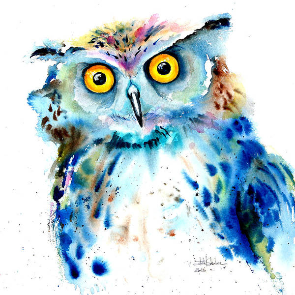 Surrealistic Painting - Owl by Isabel Salvador