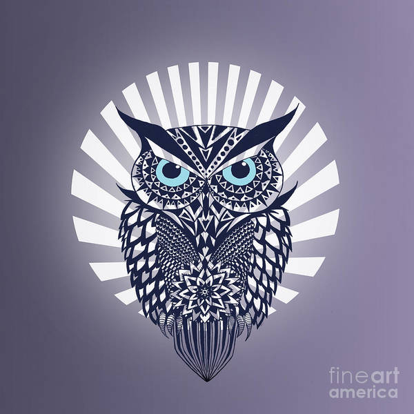 Owl Wall Art - Digital Art - Owl by Mark Ashkenazi