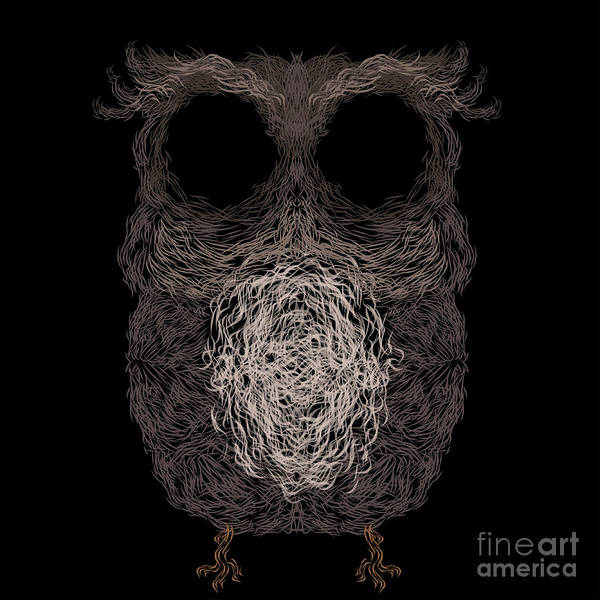 Wall Art - Digital Art - Owl Poster. Vector Illustration by Darcraft