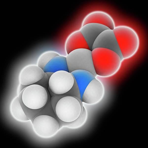 Platinum Photograph - Oxaliplatin Drug Molecule by Laguna Design