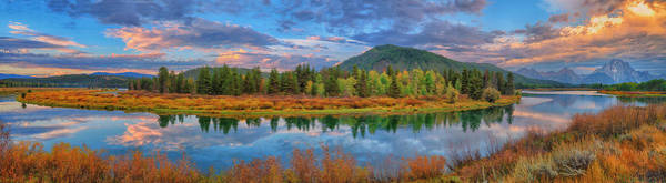 Photograph - Oxbow Bend Early Autumn Panorama by Greg Norrell