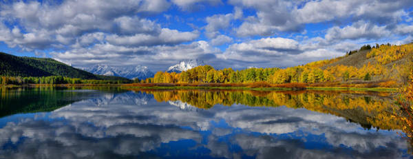 Photograph - Oxbow Bend Peak Autumn Panorama by Greg Norrell