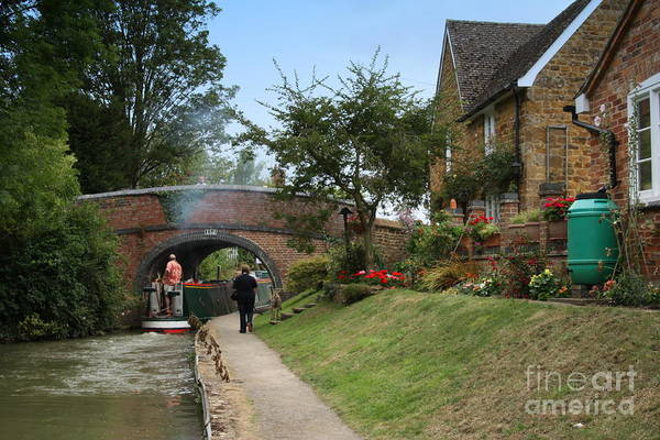 Dog Walker Photograph - Oxford Canal by Linsey Williams