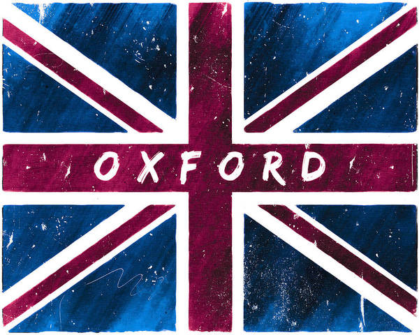 Digital Art - Oxford Distressed Union Jack Flag by Mark Tisdale