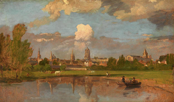 Wall Art - Painting - Oxford From The River With Christ Church In The Foreground by Litz Collection