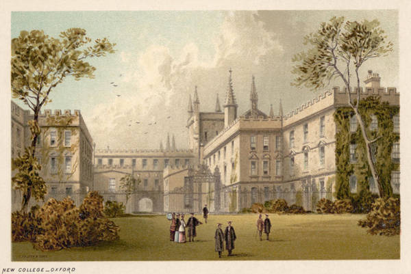 College Campus Painting - Oxford New College by Granger
