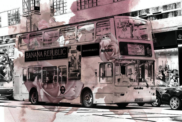 Autobus Photograph - Oxford Street by Paula Sharlea
