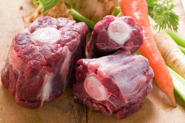 Vegies Photograph - Oxtail And Fresh Soup Vegetables by Foodcollection