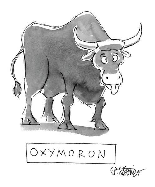 2000 Drawing - 'oxymoron' by Peter Steiner