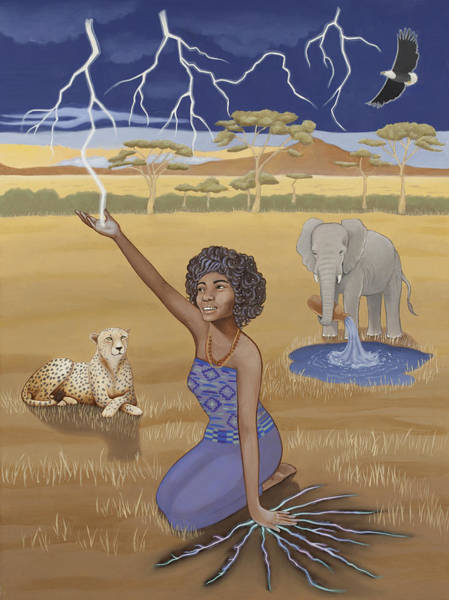 Lightening Painting - 'aquarius / Oya' by Karen MacKenzie