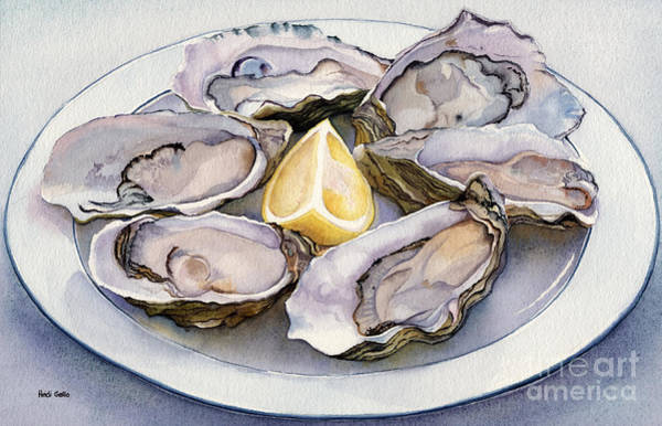 Oyster Bar Wall Art - Painting - Oyster Platter by Heidi Gallo