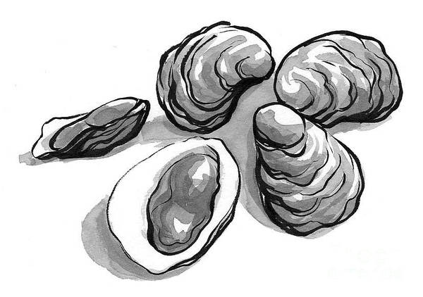 Oysters Art Print by Laura Gilmore