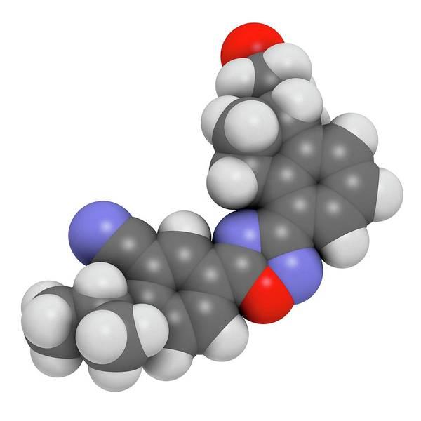 Ozanimod Anti-inflammatory Drug Molecule Art Print