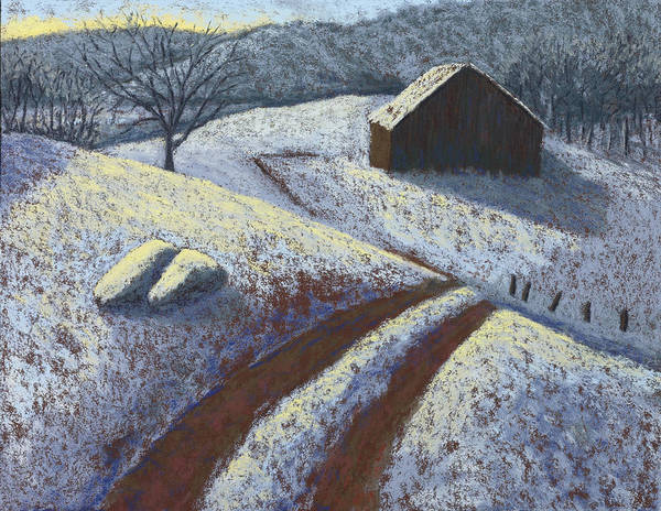 Barn Snow Painting - Ozark Winter Barn by Garry McMichael