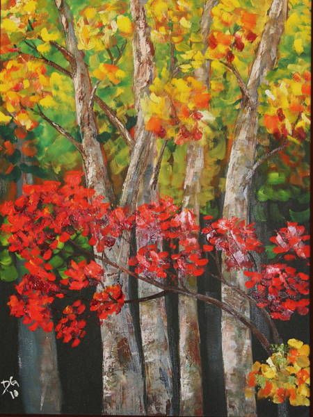 Painting - Ozark Woods by DG Ewing