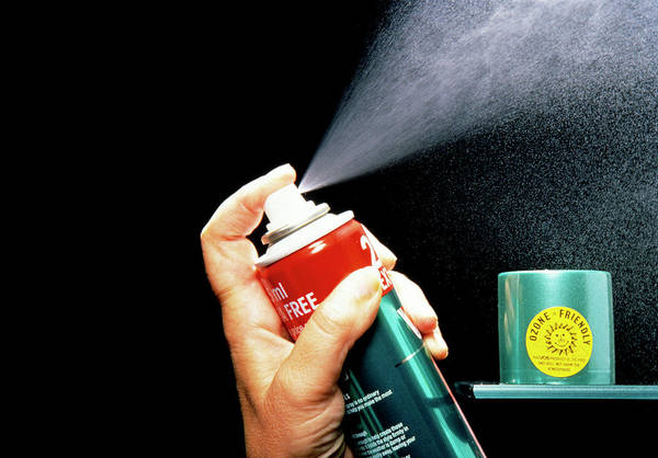 Wall Art - Photograph - Ozone Friendly Can Of Hairspray by Sheila Terry/science Photo Library