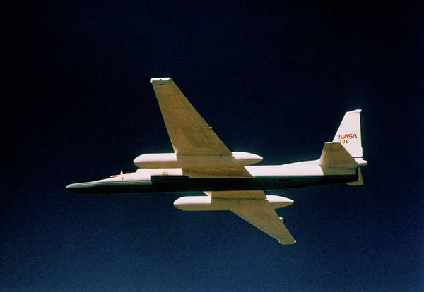 Er Photograph - Ozone Hole Research: Nasa Er-2 Aircraft In Flight by Nasa/science Photo Library