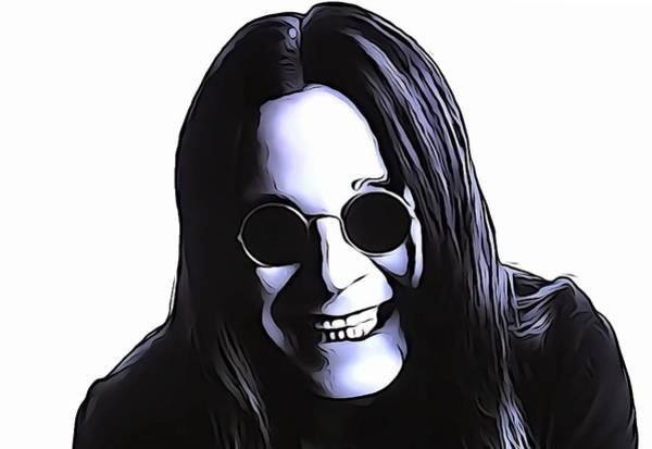 Classic Rock Mixed Media - Ozzy by Dan Sproul