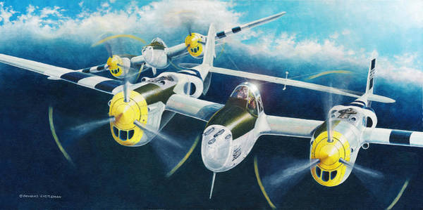 P-38 Lightnings Art Print
