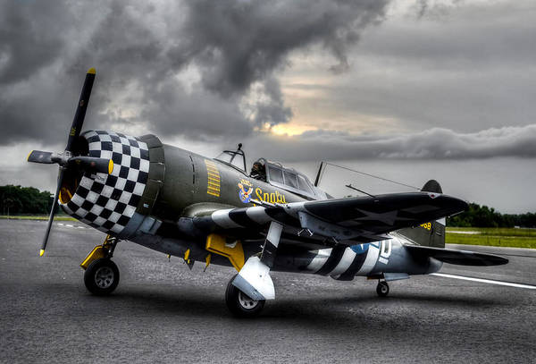 P-47 Sunset Art Print