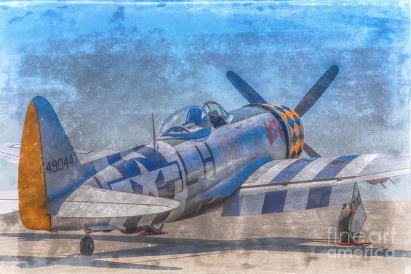 Jug Digital Art - P-47 Thunderbolt Airplane Wwii Airfield by Randy Steele