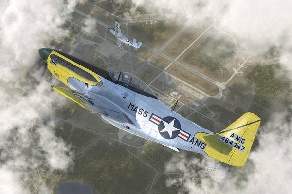 Wall Art - Digital Art - P-51 H by Robert Perry