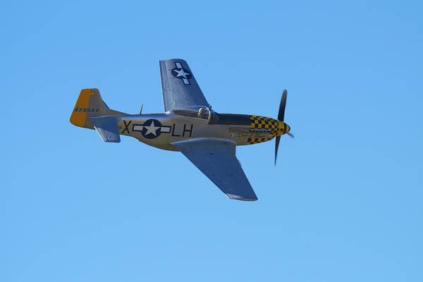 Vintage Airplane Photograph - P-51 Mustang - American Fighter Plane by David Wall