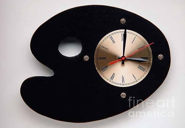 Mixed Media - P Clock by Bill Thomson