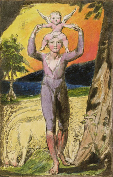 Poem Painting - P.124-1950.pt29 Frontispiece To Songs by William Blake